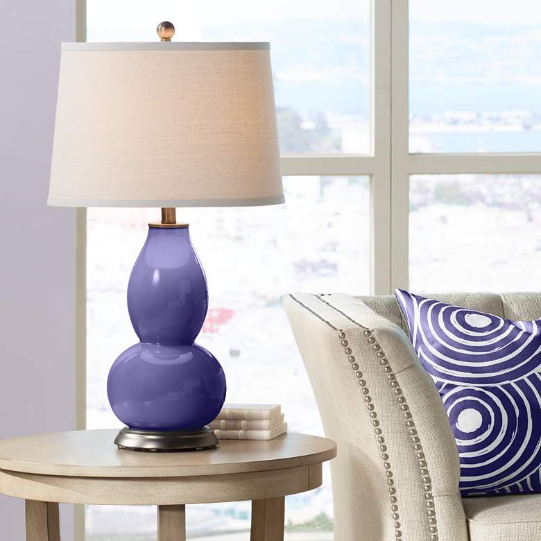 Valiant Violet Double Gourd Table Lamp