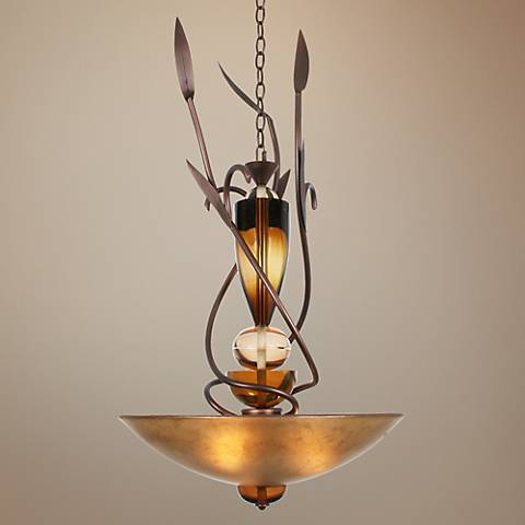 "Almost Autumn 36"" High Copper Pendant Light"