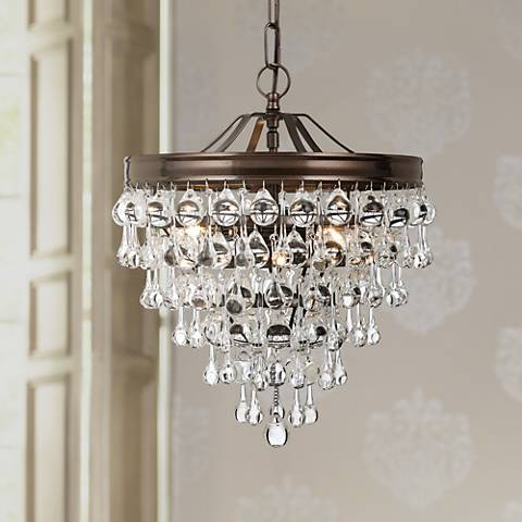 "Calypso 12"" Wide Crystal Vibrant Bronze Chandelier"