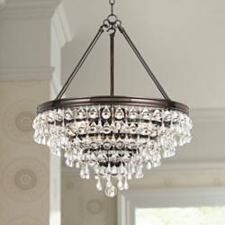 "Calypso 20"" Wide Crystal Vibrant Bronze Chandelier"