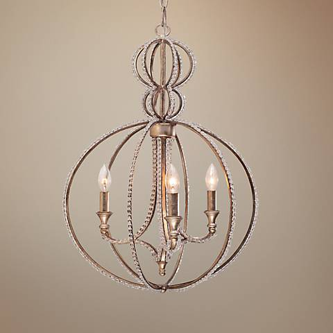 "Garland 18"" Wide Twilight Crystal Chandelier"