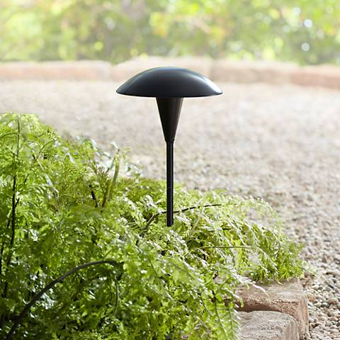 "Large 18"" High Mushroom Black LED Path Light"