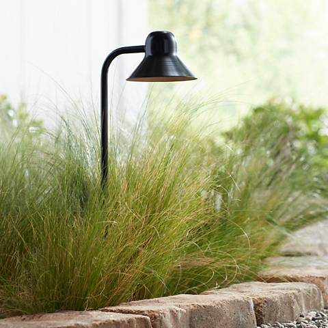 "Jayce Collection 18 1/2"" High Black LED Landscape Path Light"
