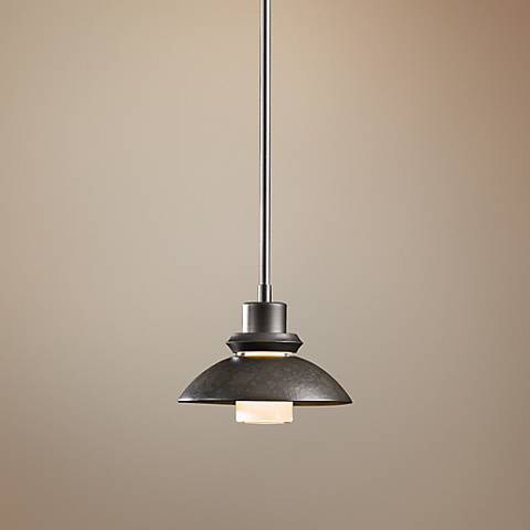 "Hubbardton Forge Staccato 7"" Wide Dark Smoke Mini Pendant"