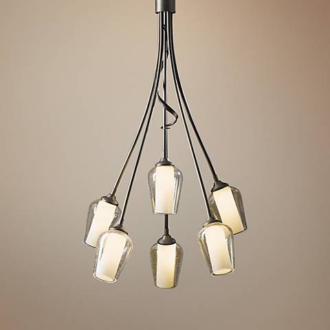 "Hubbardton Forge Flora 23"" Wide Seeded Glass Chandelier"