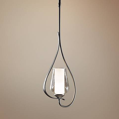 "Hubbardton Forge Flora 7 3/4"" Wide Seeded Glass Mini Pendant"
