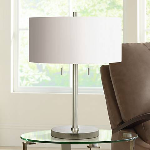 Spiga Brushed Steel Table Lamp
