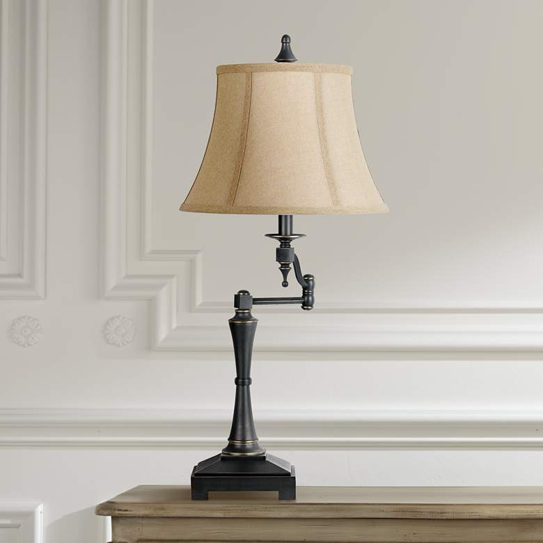 Granville Oil-Rubbed Bronze Swing Arm Table Lamp