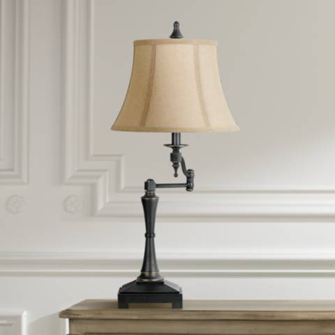 Granville Oil Rubbed Bronze Swing Arm Table Lamp 2f205
