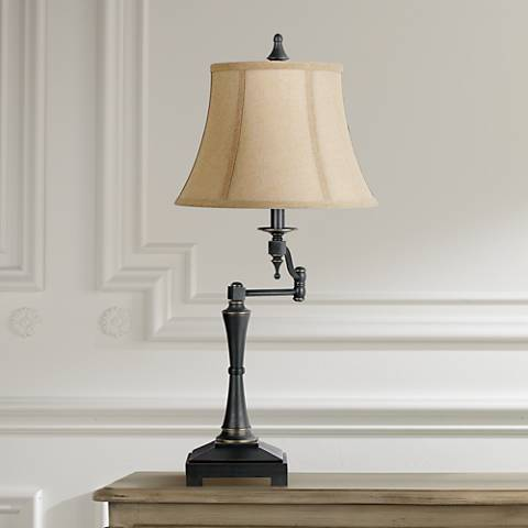 Granville oil rubbed bronze swing arm table lamp 2f205 lamps plus granville oil rubbed bronze swing arm table lamp mozeypictures Image collections