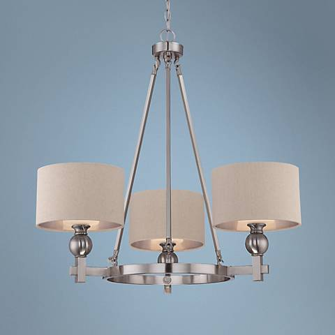 Quoizel Metro 3-Light Brushed Nickel Chandelier