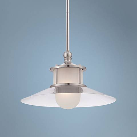"Quoizel New England 14"" Wide Brushed Nickel Mini Pendant"