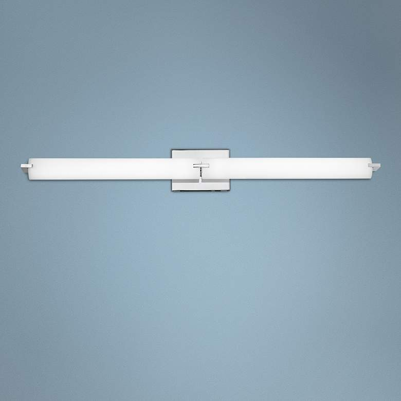 "George Kovacs Chrome 39 1/2"" Wide LED Bathroom Light"