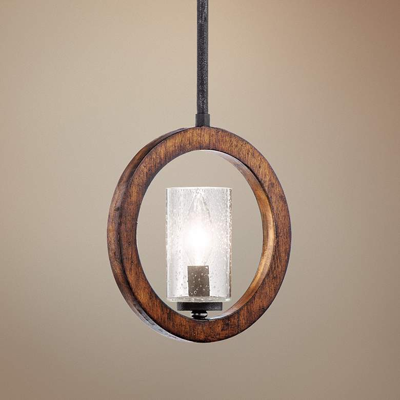 "Kichler Grand Bank 9"" Wide Auburn Convertible Mini Pendant"