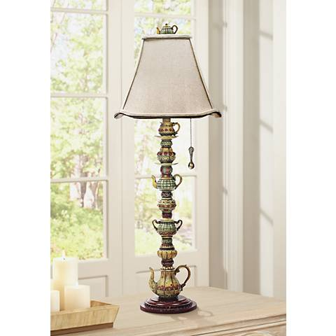 "Tea Service 35"" High Burwell Table Lamp"