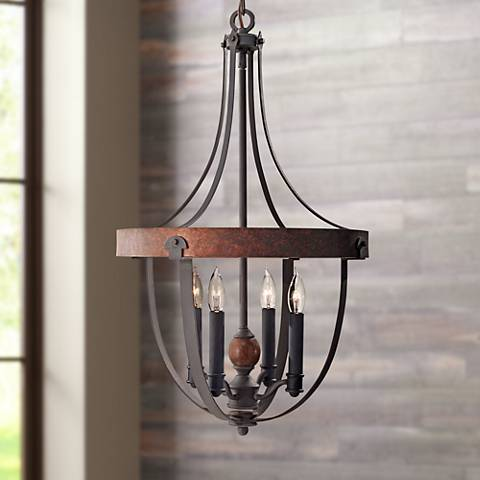 "Feiss Alston 16"" Wide Rustic Industrial Chandelier"