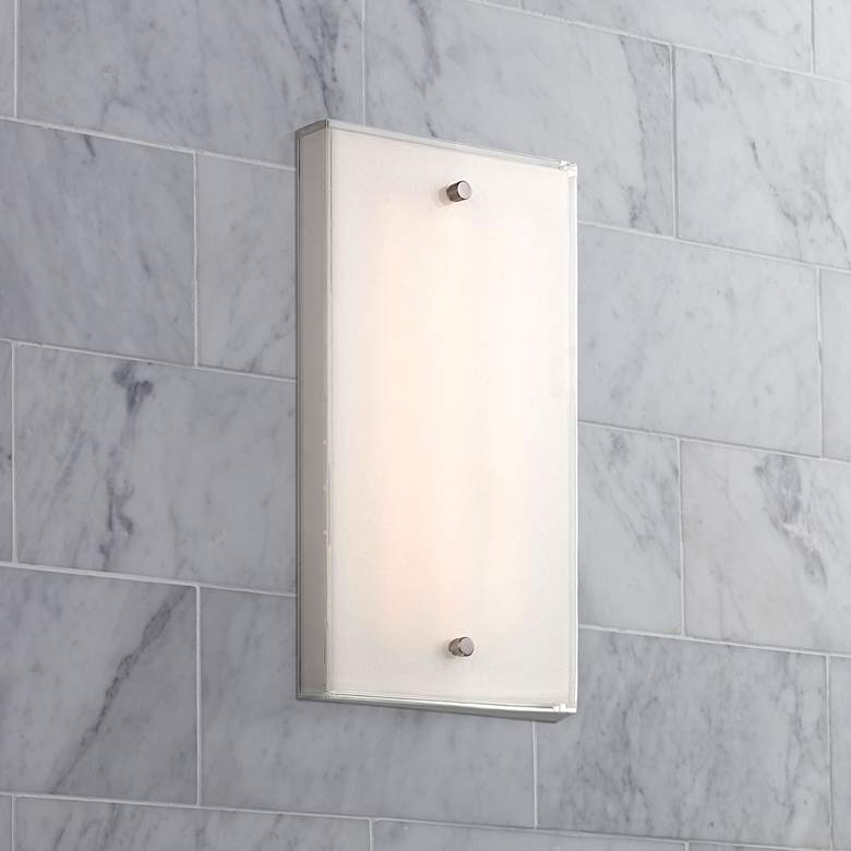 "George Kovacs Framework 12"" High Nickel LED Wall Sconce"