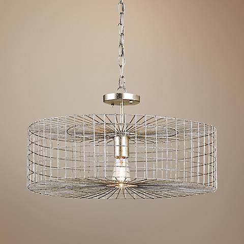 "Currey and Company Dusklight 22"" Wide Silver Chandelier"