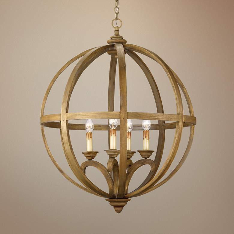 "Currey and Company Axel Orb 5-Light 32"" Wide"