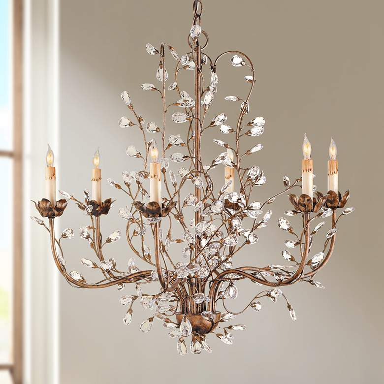Currey And Company 27 Wide Crystal Chandelier