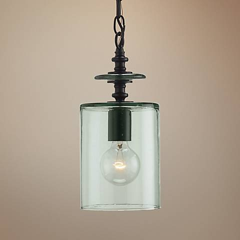 "Currey and Company Panorama 6"" Wide Clear Glass Mini Pendant"