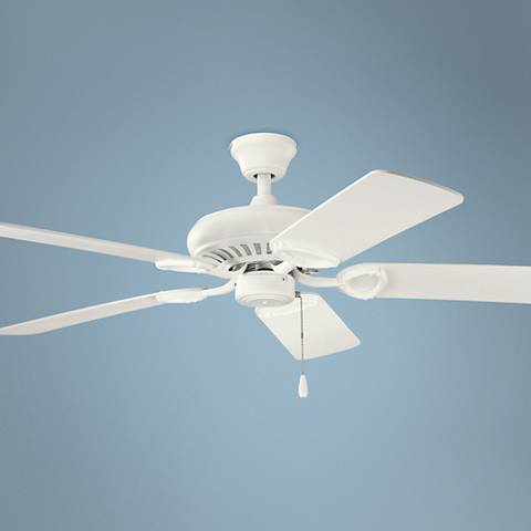 "52"" Kichler Sutter Place Satin Natural White Ceiling Fan"