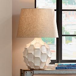 Cosgrove Round White Ceramic Table Lamp