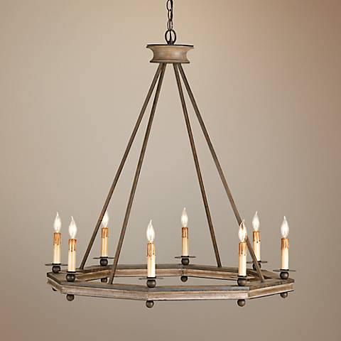 Currey and company bonfire 32 wide rust wood chandelier 2h968 currey and company bonfire 32 wide rust wood chandelier aloadofball