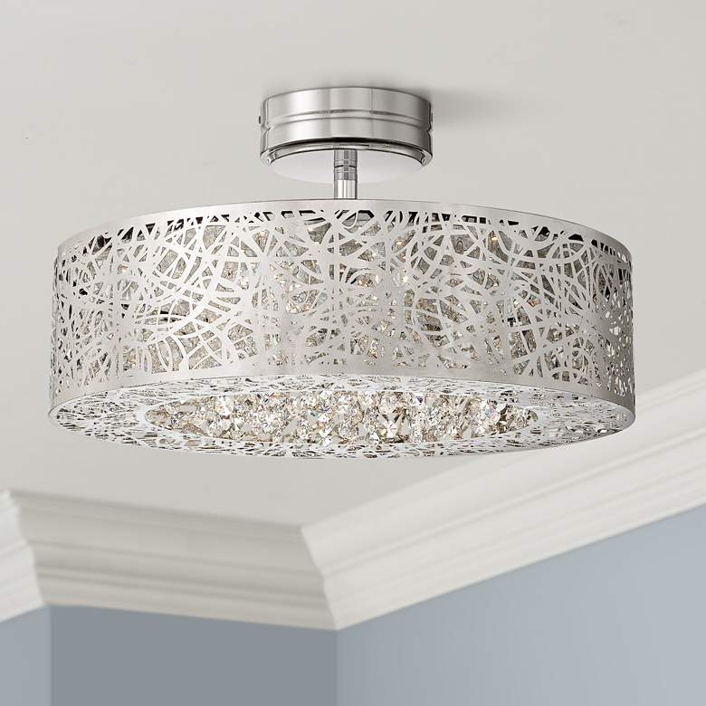 "George Kovacs 18 1/4"" Wide Chrome LED Ceiling"