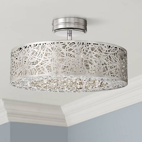 "George Kovacs 18 1/4"" Wide Chrome LED Ceiling Light"