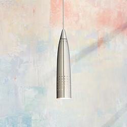 Odyssey Collection Brushed Steel LED Mini Pendant