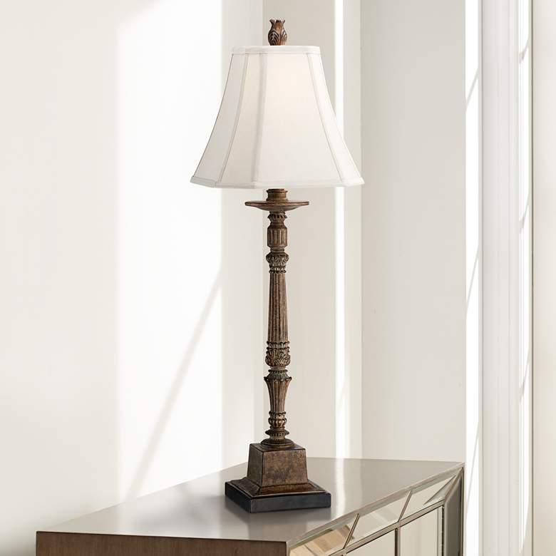 Thornewood Brown Traditional Console Table Lamp