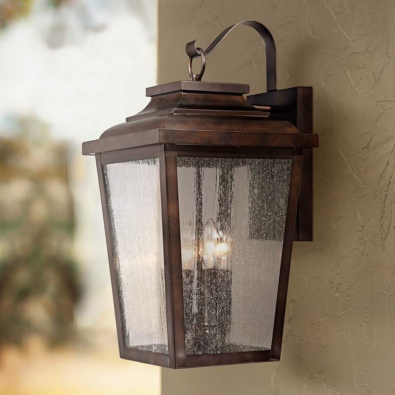 "Irvington Manor 20 3/4"" High Bronze Outdoor Wall Light"