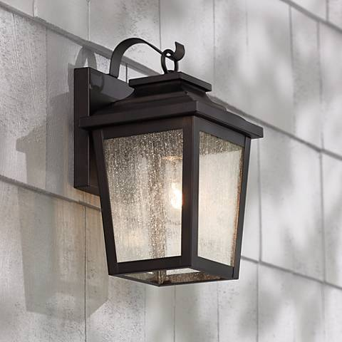 "Irvington Manor 12"" High Bronze Outdoor Wall Light"