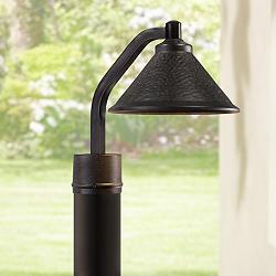"Kirkham Bronze 11"" High Dark Sky LED Outdoor Post Light"