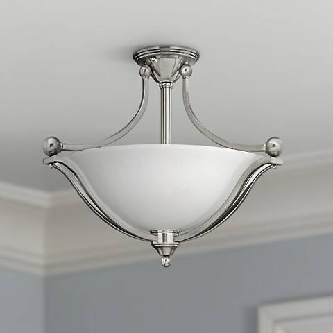 "Hinkley Bolla 23 1/4"" Wide Brushed Nickel Ceiling Light"