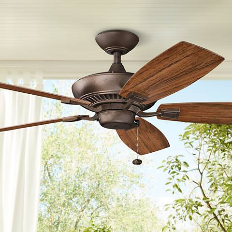 52 canfield patio wet weathered copper ceiling fan 2n523 lamps 52 canfield patio wet weathered copper ceiling fan aloadofball Image collections