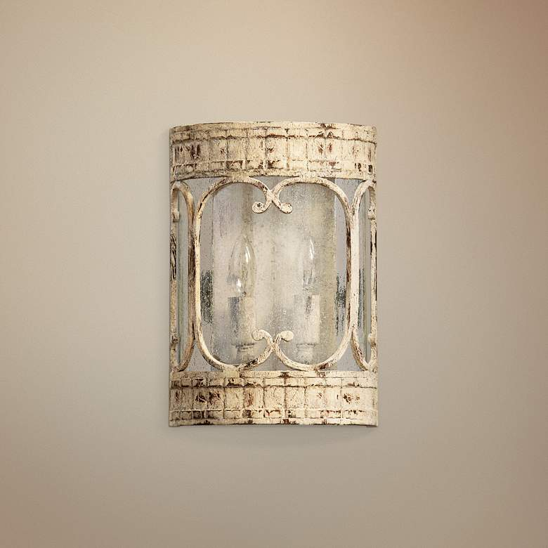 "Quorum Florence 11 1/4"" High Persian White Sconce"