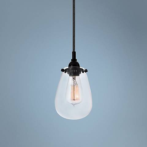 "Sonneman Chelsea 4 1/2"" Wide Satin Black Mini Pendant"