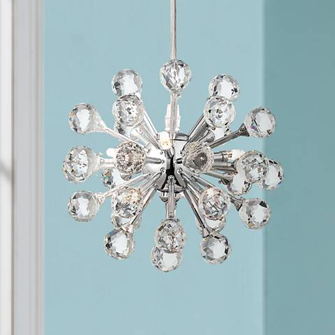 "Possini Euro Design Cassiopeia 8 1/2""W Crystal Mini Pendant"