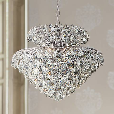 "Vienna Full Spectrum Inez 20"" Wide Clear Crystal Pendant"