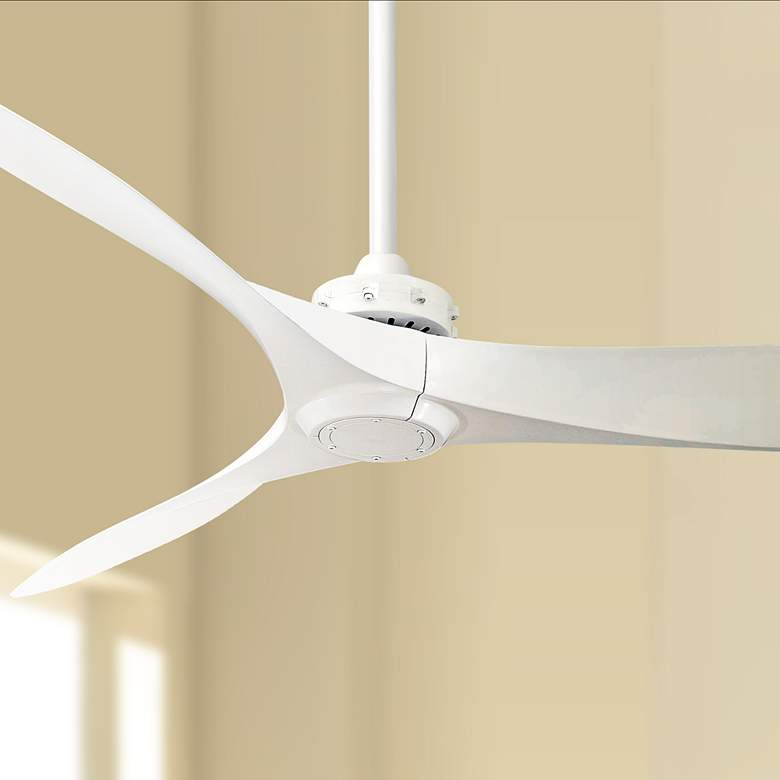 "60"" Minka Aire Aviation White Ceiling Fan"