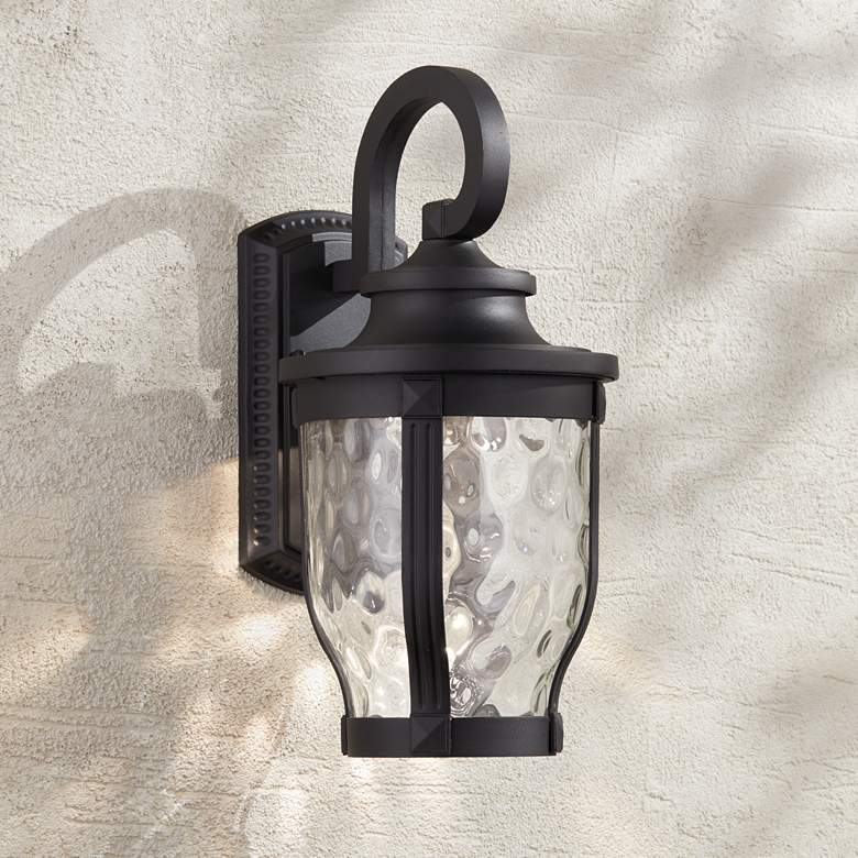 "Merrimack 16 1/4"" High Black LED Outdoor Wall Light"
