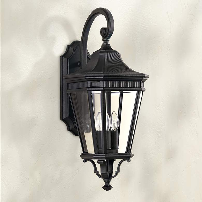 "Feiss Cotswold Lane 23 3/4""H Black Outdoor Wall Light"