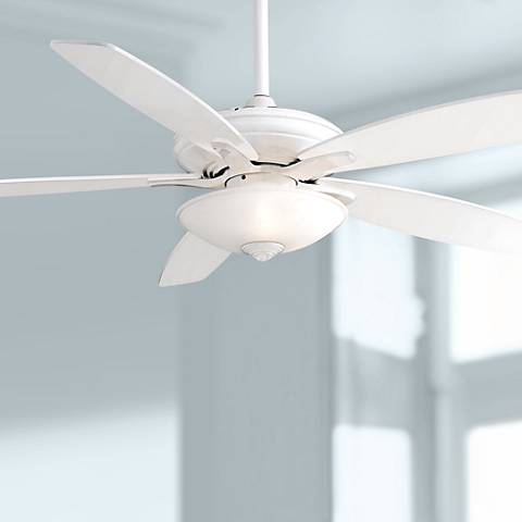 "52"" Minka Aire Mojo Frosted White Glass - White Ceiling Fan"
