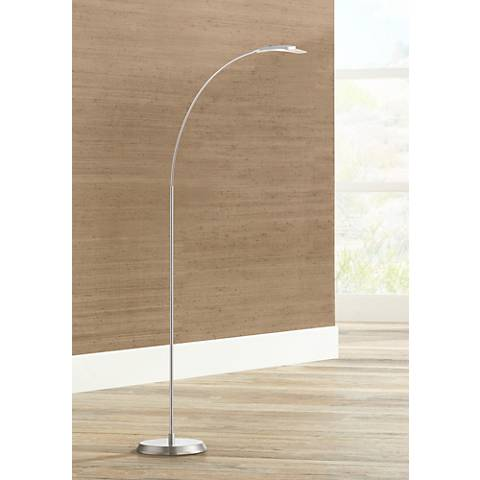 Salvo Satin Nickel LED Floor Lamp