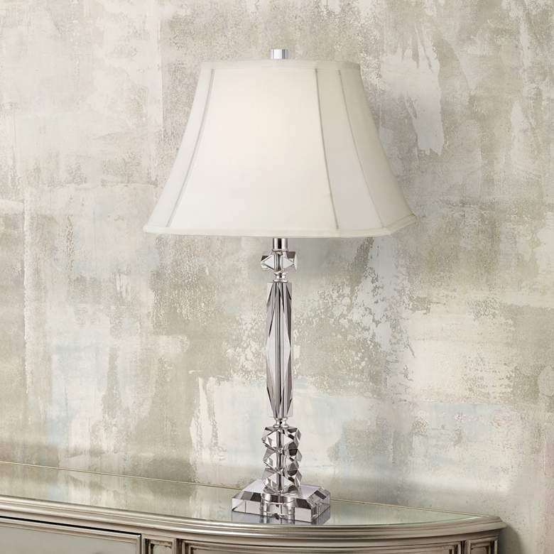 Mitzie Cut Crystal Column Table Lamp by Vienna Full Spectrum