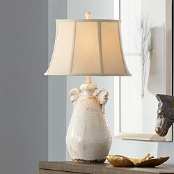 Isabella Ivory Ceramic Table Lamp by Regency Hill