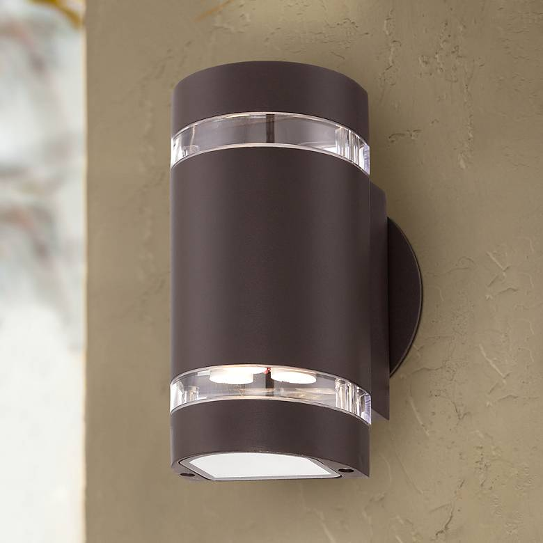 "Wynnsboro 7 3/4"" High Bronze LED Outdoor Up and Downlight"