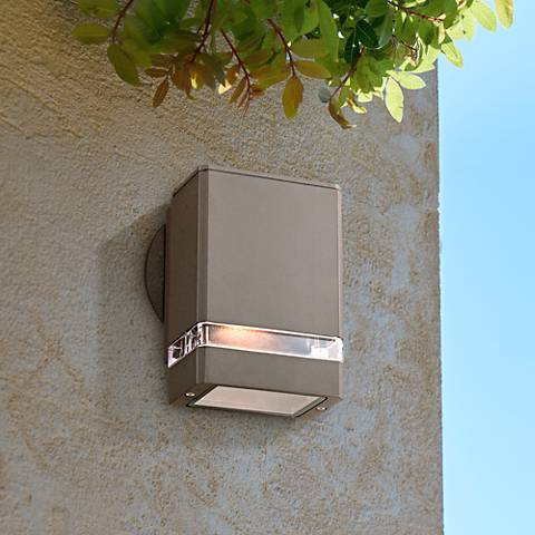 Possini Euro Ridgeland Bronze Rectangular Outdoor Wall Light